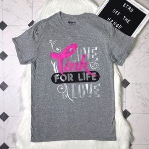 Gildan gray Breast Cancer Awareness tee size Small